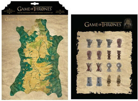 Game of Thrones - Mappa di Westeros e Pennarello Magnete Set