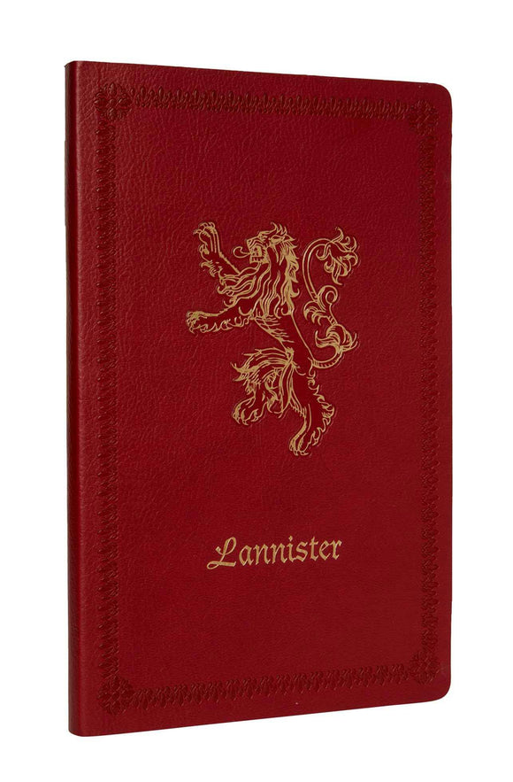 Game Of Thrones - Ruled Notebook Lannister