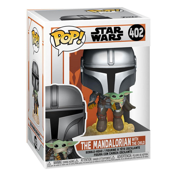 Funko Pop - Star Wars - The Mandalorian - Mando Flying w/ Jet Pack with the Child