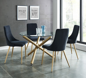 Carmilla Round Dining Table in Gold