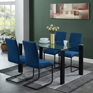 Vespa Rectangular Dining Table in Black