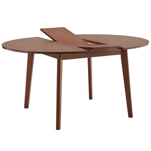 Alero Round Dining Table in Walnut