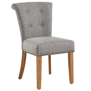 Selma Side Chair in Light Grey each