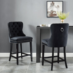 Rizzo 26'' Counter Stool, set of 2, in Black