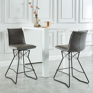 Monaco 26'' Counter Stool, set of 2, in Grey