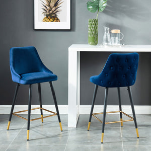 Roxanne 26'' Counter Stool, set of 2, in Blue