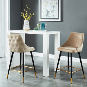 Roxanne 26'' Counter Stool, set of 2, in Taupe