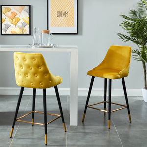 Roxanne 26'' Counter Stool, set of 2, in Yellow