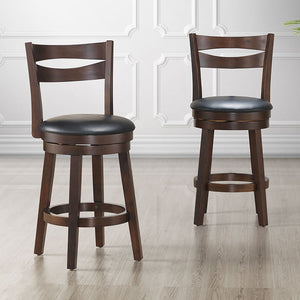 Harlo 26'' Counter Stool, set of 2, in Coffee