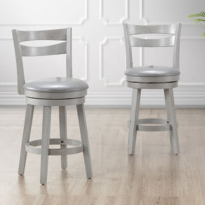 Harlo 26'' Counter Stool, set of 2, in Grey