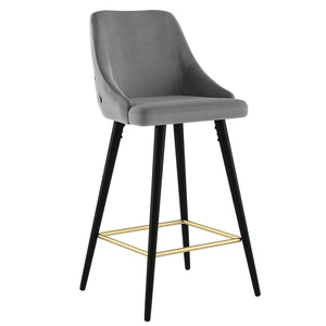 Roxanne II 26'' Counter Stool, set of 2 in Grey