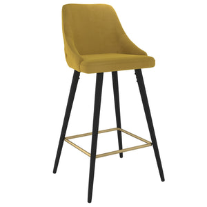 Roxanne II 26'' Counter Stool, set of 2 in Mustard