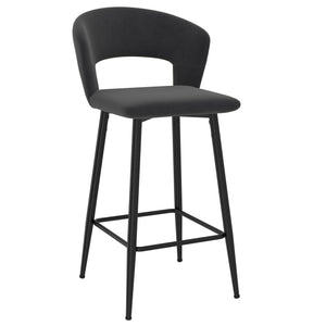Camille 26'' Counter Stool, set of 2 in Charcoal