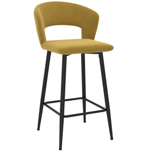 Camille 26'' Counter Stool, set of 2 in Mustard