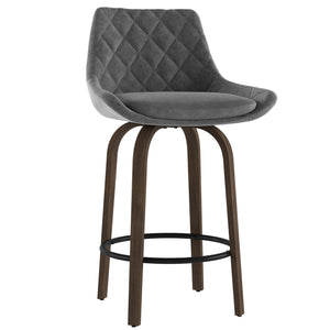 Kenzo 26'' Counter Stool, set of 2 in Grey
