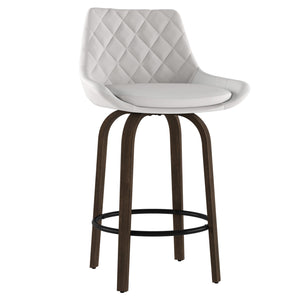 Kenzo 26'' Counter Stool, set of 2 in White