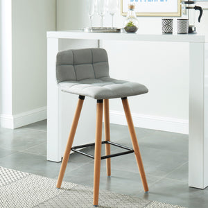 Rico 26'' Counter Stool, set of 2, in Grey