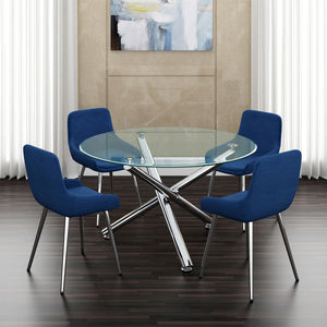 Solara II/Cassidy 5pc Dining Set, Blue