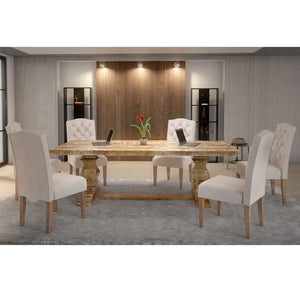 Takhur/Lucian 7pc Dining Set, Natural/Beige