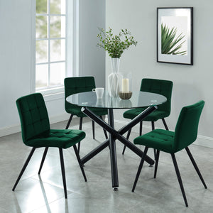 Suzette 5pc Dining Set, Green