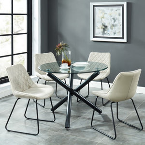 Suzette/Calvin 5pc Dining Set, Taupe
