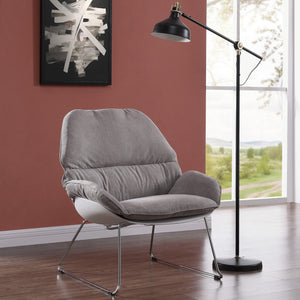 Finn Accent Chair in Light Grey
