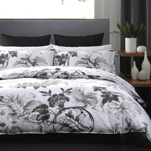 DAVINCI GREY DUVET COVER SET