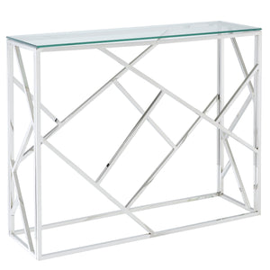 Juniper Console Table in Silver