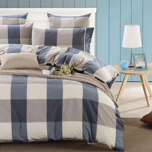 Blue Plaid (Duvet Cover Set)