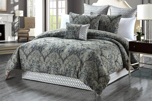 Elaine 6-Piece Luxury Oversize Comforter Set