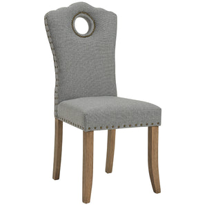 Elise Side Chair in Grey/Light Grey (2 Pk)