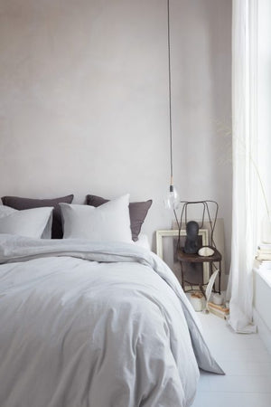 Grey Duvet Cover, Natural Stone Collection