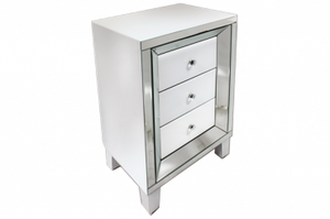 Angelo White Side Table