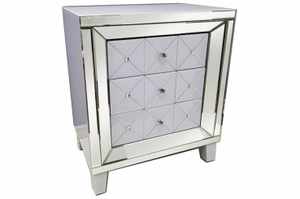 Block White Side Table