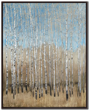 Dusty Blue Birches