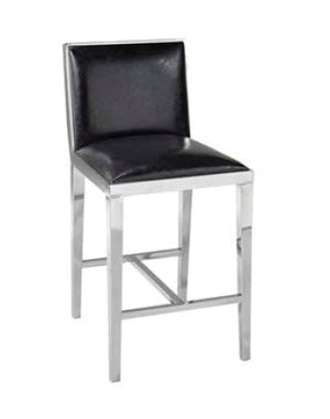 Emario counter stool GY-COU-7778 Black leatherette