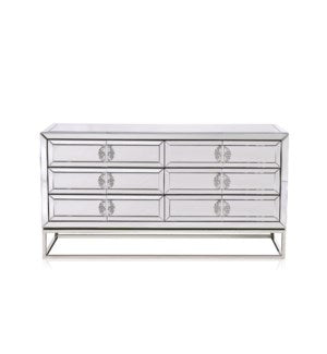 LANGLEY GY-8218-DRSR, MIrror dresser w/ 6 drawers
