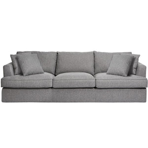 Prince Grey Fabric 3 Seater