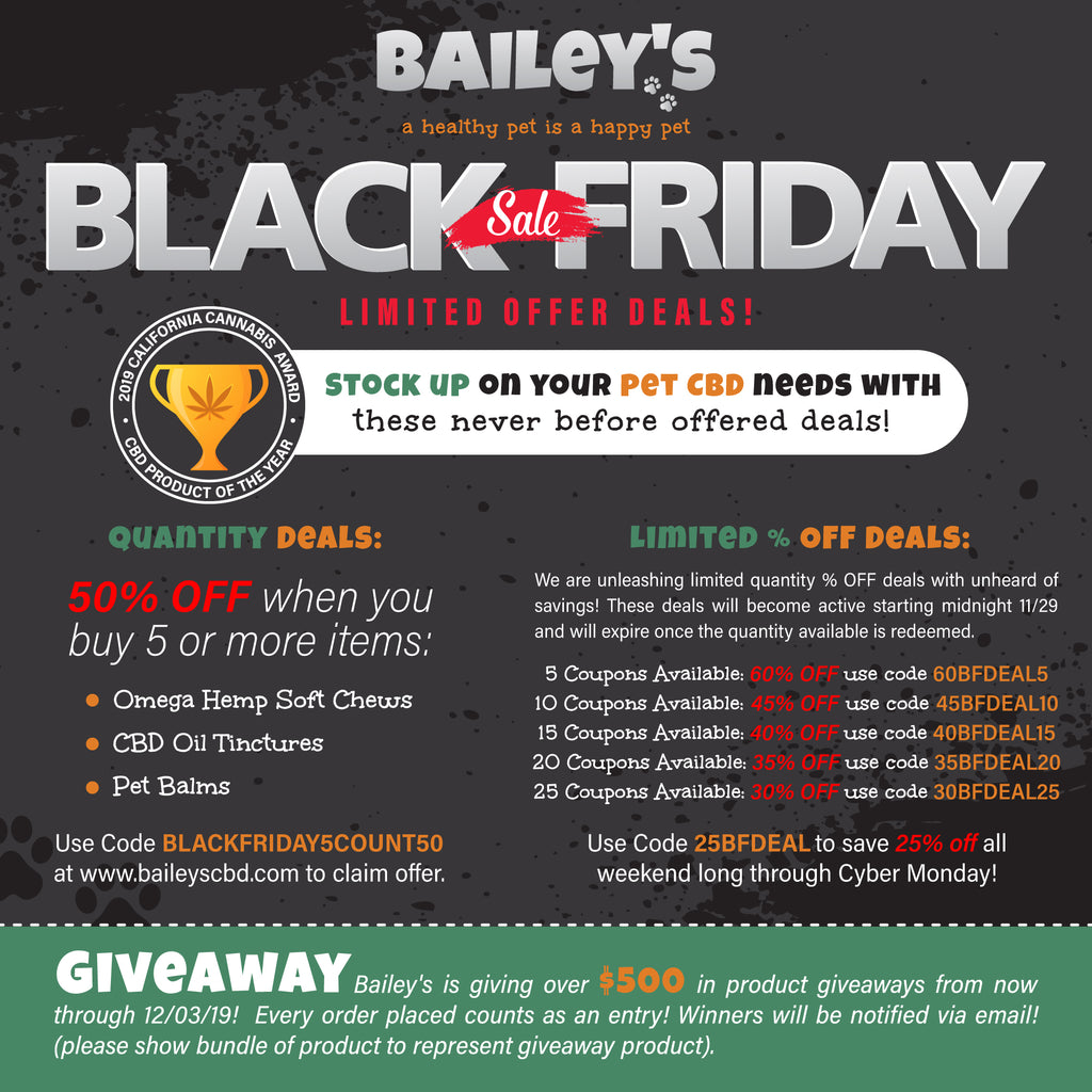 Bailey's Black Friday 2019 Deals!