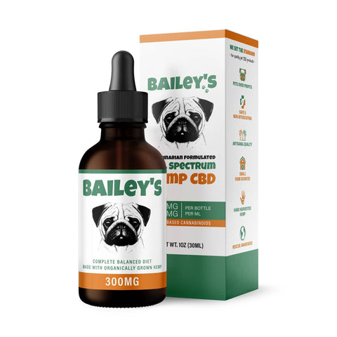 Bailey's Full Spectrum Hemp CBD Oil For Pets | Monthly Membership