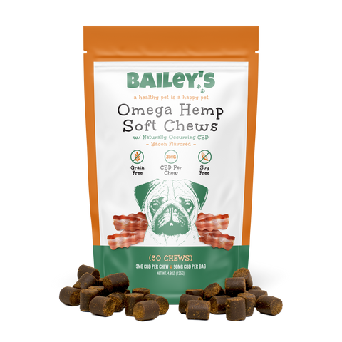 Bacon Flavored Omega Hemp CBD Soft Chews - Small/Medium Breed