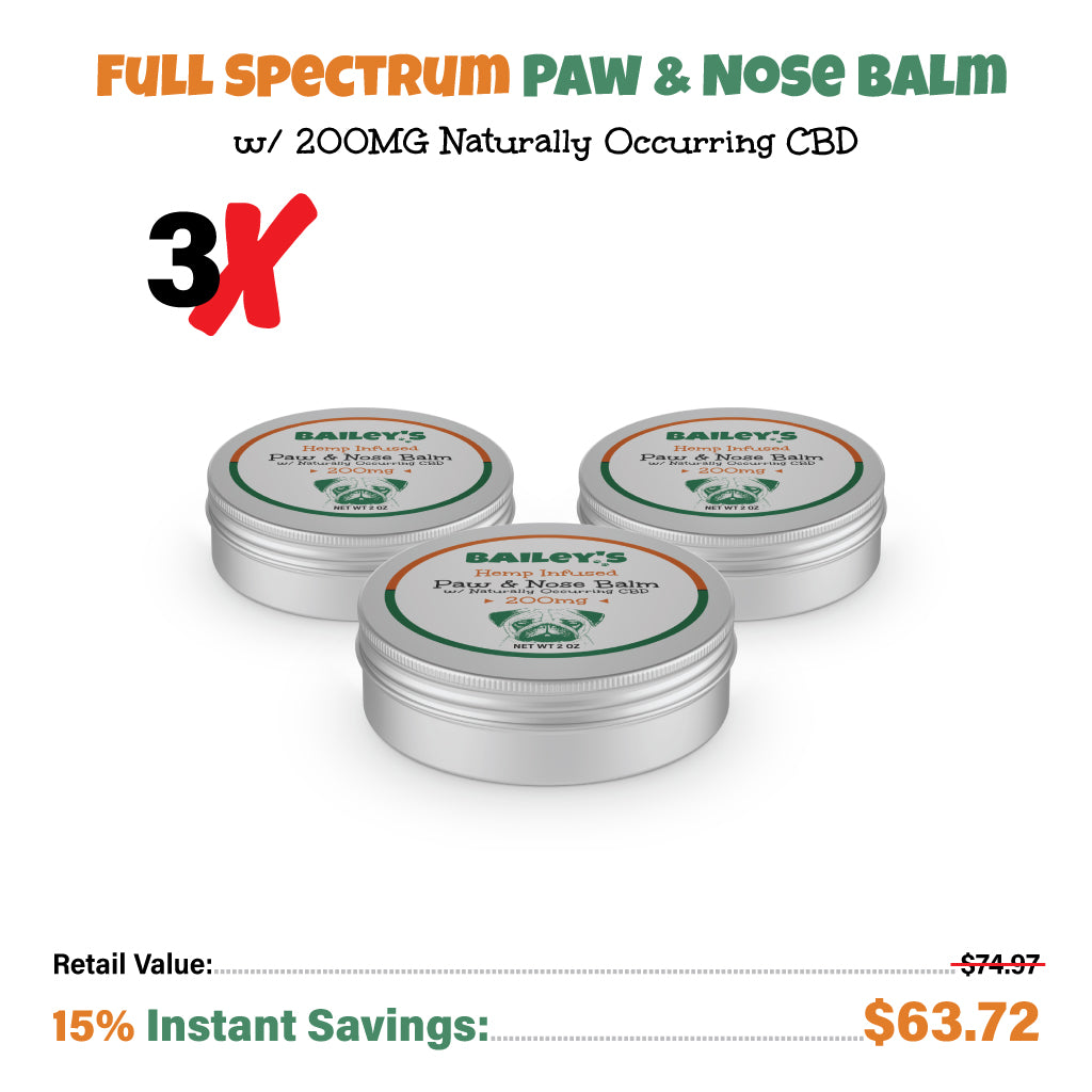 Bailey's Full Spectrum Hemp CBD Paw & Nose Balm