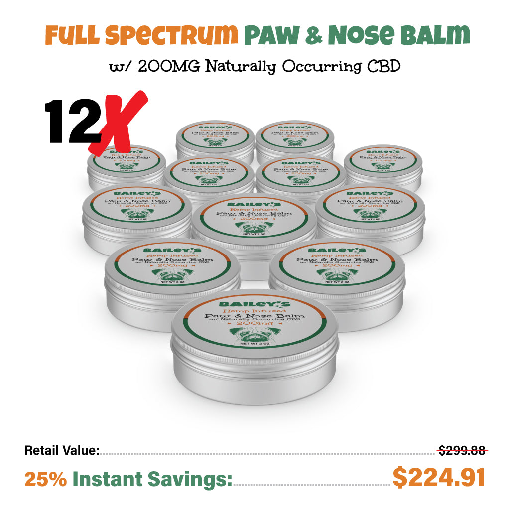Bailey's Hemp Infused Paw & Nose Balm w/ Naturally Occurring CBD