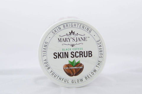 Mary's Jane Beauty Black Coffee CBD Skin Scrub
