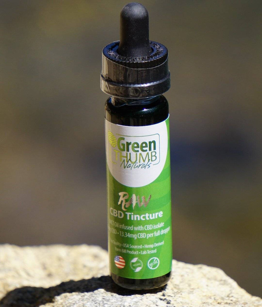 Green Thumb Naturals Raw Hemp Tincture w/ 500MG CBD Isolate