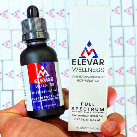 Elevar Wellness True Full Spectrum Hemp Oil w/ Naturally Occurring CBD & Terpenes