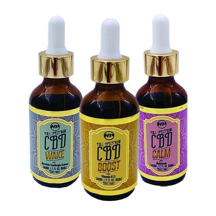 HeyerPower Wellness CBD Oil Trio (Wake, Boost, & Calm) – 500 mg per bottle – 3 each 2 fl oz Tinctures