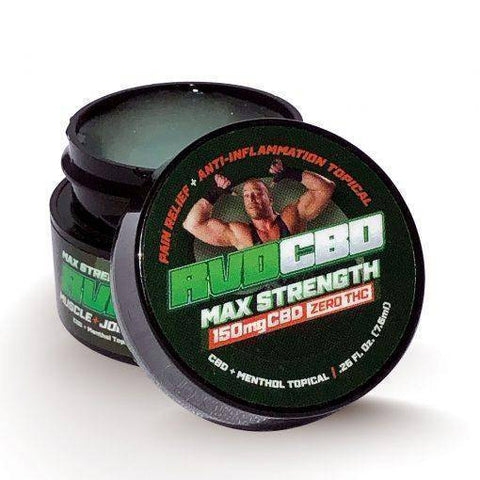 RVDCBD Maximum Strength Muscle & Joint Relief Cream w/ 150MG CBD & Non-Detectable THC