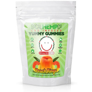 So Cal Hemp Co. CBD Infused Peach Ring Gummies w/ 300mg CBD Per Package