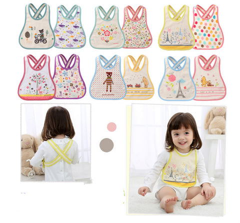 BABY BIBS CRISS CROSS PATTERN